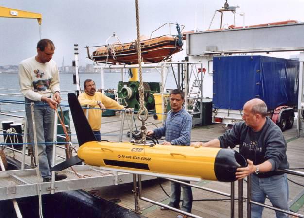 BENTHOS C3D Sonarsystem an der Kieler Förde